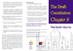 The draft constitution: chapter 9